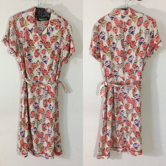 Vintage Dresses & Skirts - Vintage Chinese Lantern Dress Manifesto SF